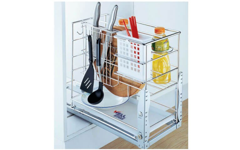 Ideal Home Design International 300 Wire Condiment Pull Out Stainless