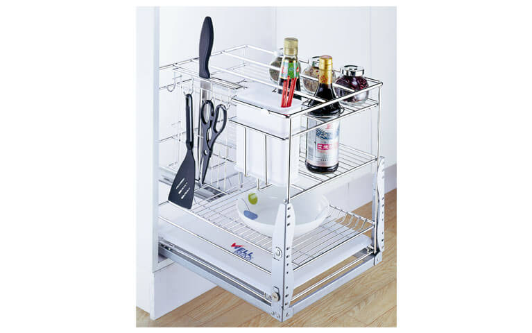 Ideal Home Design International 450 Wire Condiment Pull Out Stainless
